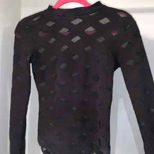 Fashion nova black mesh bodysuit 💗
